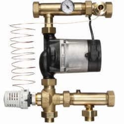 Køb Gulvvarmeshunt Roth med 3 vejs ventil og termostatisk ventil