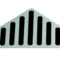 Køb Rist Unidrain column hjørne 3 mm