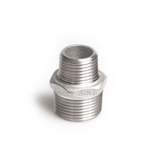 Køb Brystnippel syrefast 11/2x3/4 AISI316/CF8M