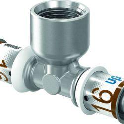 "Køb Uponor S-Press PLUS prestee muffe/muffe 20 mm x 34"" | 045478246"