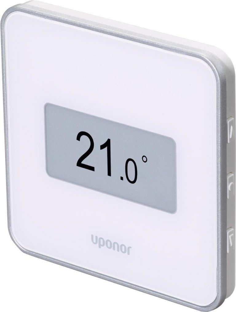 Køb Uponor Smatrix Wave Style Digital termostat med RH hvid trådløs T-169