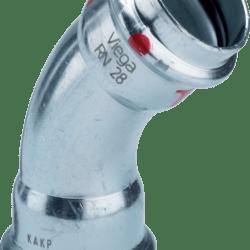 Køb Viega Prestabo bøjning 45° 15 Stål / Forzinket