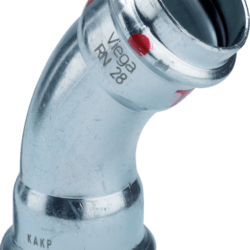 Køb Viega Prestabo bøjning 45° 18 Stål / Forzinket | 033904018