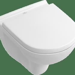 Køb V&B O Novo vægskål kompakt 350X490 med sæde og soft close hvid kombipak