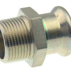 Køb VSH overgang muffe/nippel 54 mm X 11/2 syrefast