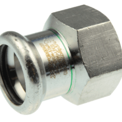 Køb VSH overgang muffe/muffe 54 mm X 11/2 syrefast | 34686445