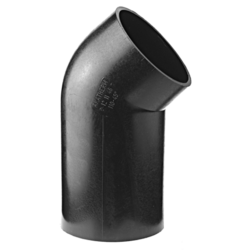 Køb Akatherm Ø90 mm X 45° Peh Vinkel - Med Langt Ben | 184016690