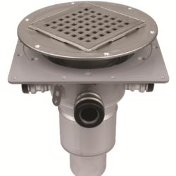 Køb Blucher Metal afløb Square til svalehaleplader 75 mm justerbart med sideindkøb | 153588313