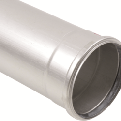 Køb Blucher Metal afløbsrør 160X1000 mm muffe rustfri | 160132100