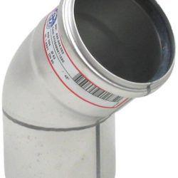 Køb Blucher Metal bøjning 45° 82 mm rustfri | 160205082