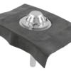 Køb Blucher Metal tagafløb til selvfald med bitumenkrave 400 x 400 mm Ø50 mm | 164102050
