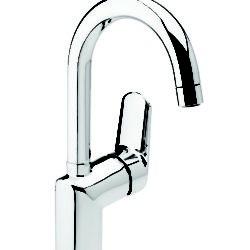 Køb Damixa Clover Green håndvaskarmatur med høj svingtud | 701428804