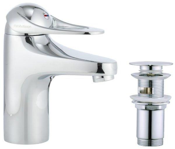 Køb FM Mattsson 9000E håndvaskarmatur med push downventil | 701997704