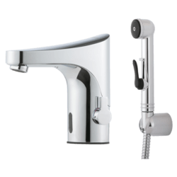 Køb FM Mattsson 9000E Tronic berøringsfrit håndvask armatur med håndbruser | 704367004