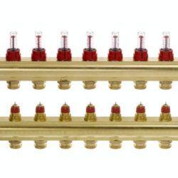 Køb Danfoss gulvvarmemanifold 9+9 FHF-9F | 402032109