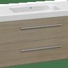 Køb Dansani Luna møbelsæt med skuffer og Menuet vask 48 x 101 x 45 cm eg | 780998058