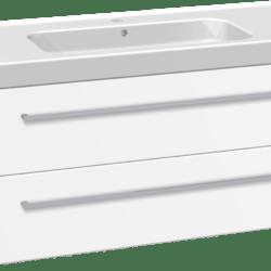 Køb Dansani Luna møbelsæt med skuffer og Menuet vask 48 x 121 x 45 cm hvid mat | 780998067
