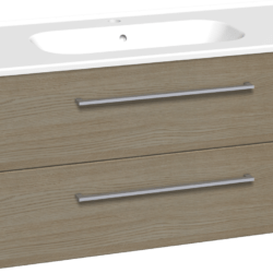 Køb Dansani Luna møbelsæt med skuffer og Kantate vask 48 x 101 x 45