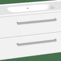 Køb Dansani Luna møbelsæt med skuffer Kantate vask og LED 48 x 101 x 45