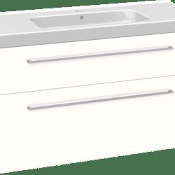 Køb Dansani Luna møbelsæt med skuffer og Menuet vask 64 x 121 x 45 cm hvid højglans | 780998460