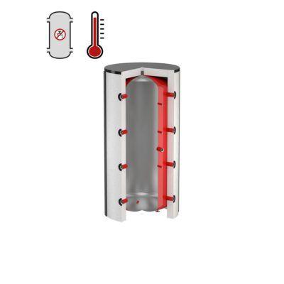 Køb Flamco PS bufferbeholder 200L til centralvarme uden isolering | 371606200