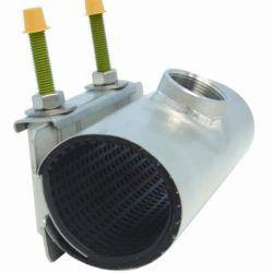 """Køb Gevindsaddel med 2 bolte 60-67 mm afgrening 1"""" RF   101723010"""