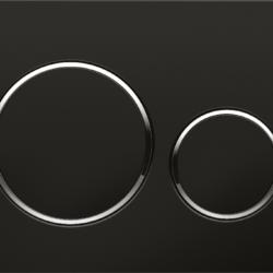 Køb Betjeningsplade Geberit Sigma 20 sort krom sort | 617080151