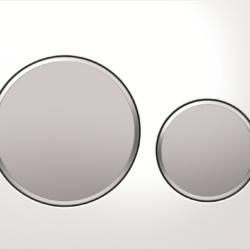 Køb Betjeningsplade Geberit Sigma 20 hvid matkrom matkrom | 617080160