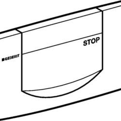 Køb Betjeningsplade geberit forfra matforkromet | 617083004