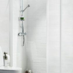 Køb Ifo Solid brusevæg sv vk7 70 cm hvid/klar | 673867070
