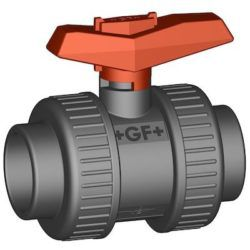 "Køb +GF+ kuglehane type 375 PVC/EPDM PN16 muffe/muffe 34"" | 980418832"