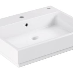 Køb GROHE Cube Ceramic håndvask væghængt med PureGuard 60 cm | 623228060