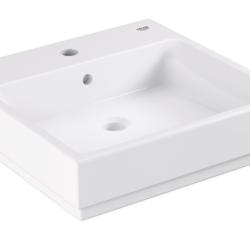 Køb GROHE Cube Ceramic håndvask væghængt med PureGuard 50 cm | 623231060