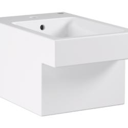 Køb GROHE Cube Ceramic bidet væghængt med PureGuard | 677325060
