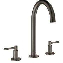 Køb GROHE Atrio håndvaskarmatur 3-h L med bundventil grafit | 702765409
