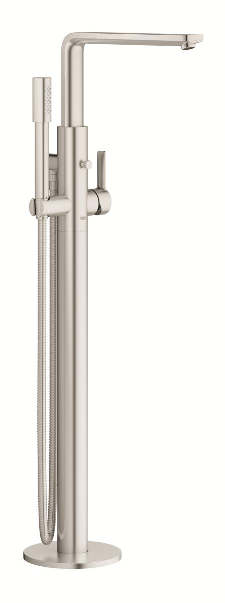 Køb GROHE Lineare New badekararmatur fritstående gulvmontage supersteel | 727739016