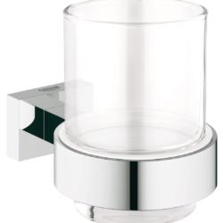 Køb GROHE Essentials Cube glas med holder | 773874104