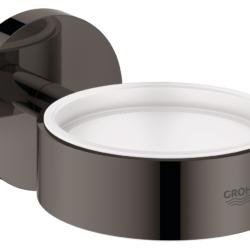 Køb GROHE Essentials holder til glas og sæbedispenser grafit | 774373158