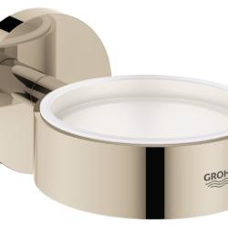 Køb GROHE Essentials holder til glas og sæbedispenser poleret nikkel | 774373160