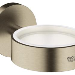 Køb GROHE Essentials holder til glas og sæbedispenser børstet warm sunset | 774373161