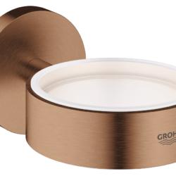 Køb GROHE Essentials holder til glas og sæbedispenser børster nikkel | 774373163
