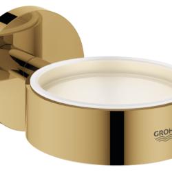 Køb GROHE Essentials holder til glas og sæbedispenser cool sunrise | 774373165