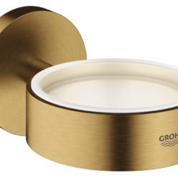 Køb GROHE Essentials holder til glas og sæbedispenser børstet cool sunrise | 774373168