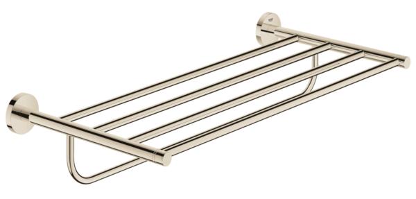 Køb GROHE Essentials håndklædestang med hylde poleret nikkel | 775658610