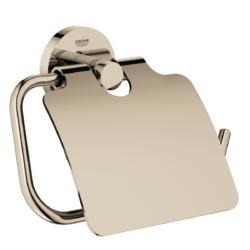 Køb GROHE Essentials toiletrulleholder med låg poleret nikkel | 776454160