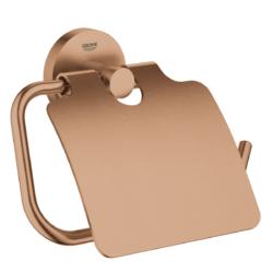 Køb GROHE Essentials toiletrulleholder med låg børstet warm sunset | 776454163