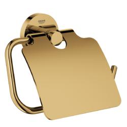 Køb GROHE Essentials toiletrulleholder med låg børstet nikkel | 776454165