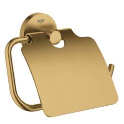 Køb GROHE Essentials toiletrulleholder med låg børstet cool sunrise | 776454168