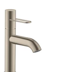 Køb AXOR Uno 100 håndvaskarmatur med bøjlegreb uden løft-op ventil børstet nikkel | 701334119
