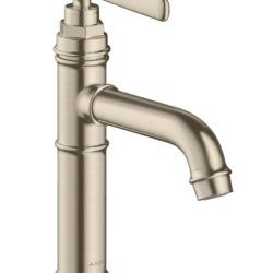 Køb AXOR Montreux håndvaskarmatur 100 uden løft-op ventil børstet nikkel | 701545519